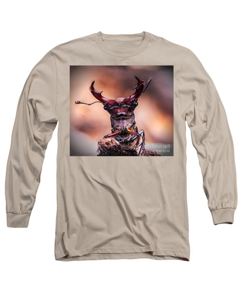 Stag Beetle Stare Down Long Sleeve T-Shirt