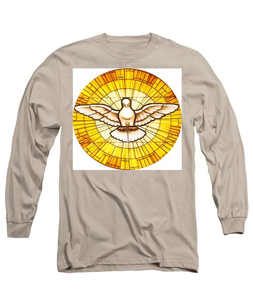 Stain Glass Dove Long Sleeve T-Shirt by Joseph Frank Baraba