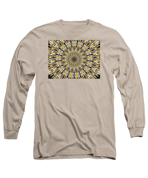 Long Sleeve T-Shirt featuring the photograph Stained Glass Kaleidoscope 22 by Rose Santuci-Sofranko