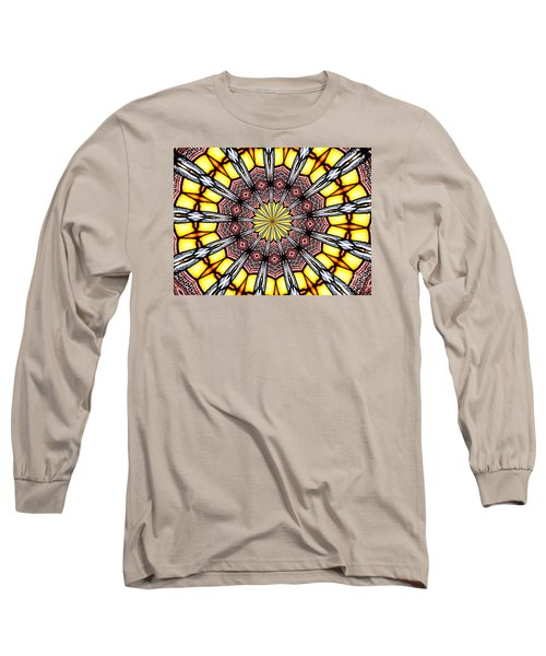 Long Sleeve T-Shirt featuring the photograph Stained Glass Kaleidoscope 23 by Rose Santuci-Sofranko