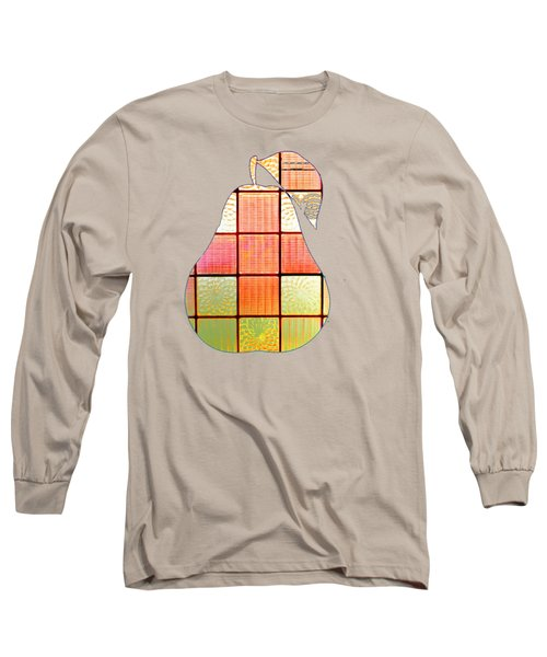 Stained Glass Pear Long Sleeve T-Shirt