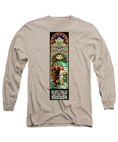 Long Sleeve T-Shirt featuring the photograph Stained Glass Scene 2 Crop by Adam Jewell