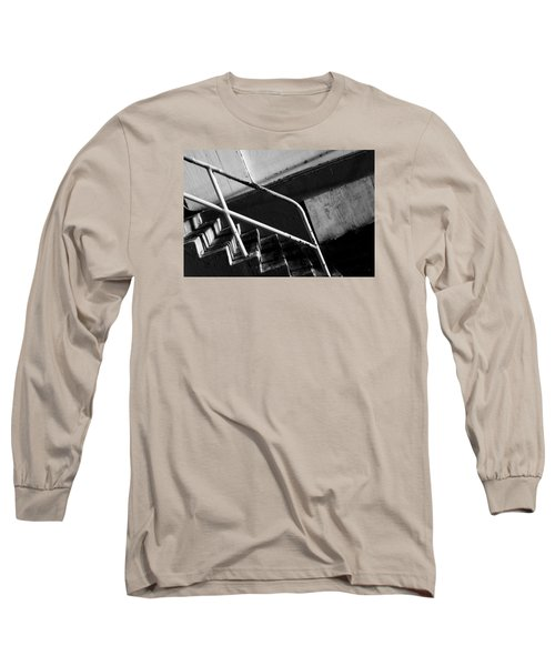 Stair Wall And Shadows Long Sleeve T-Shirt by Catherine Lau