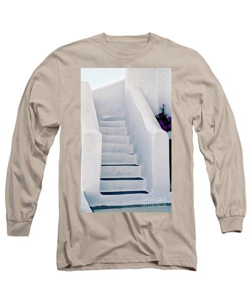 Stairway In Mykonos Long Sleeve T-Shirt