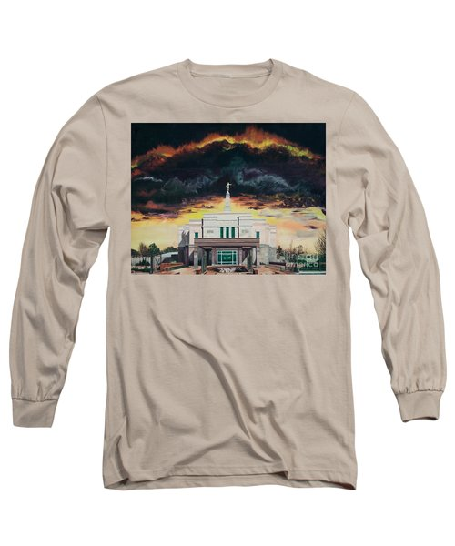 Long Sleeve T-Shirt featuring the painting Stand In Holy Places by Jane Autry