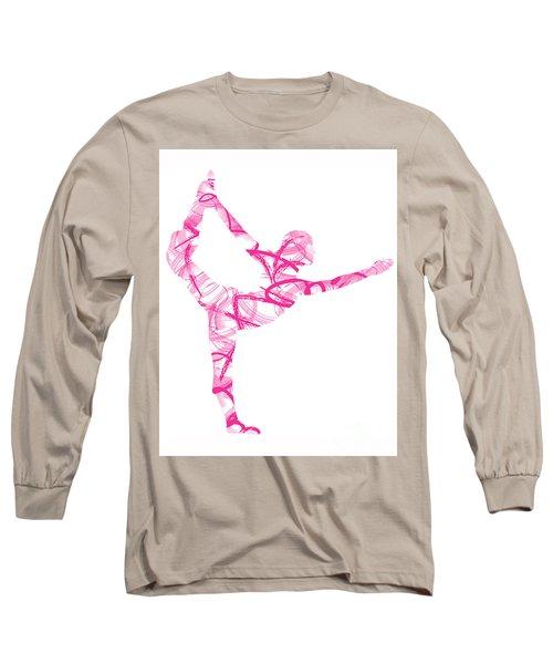 Yoga Pose Asana Standing Bow Pose Long Sleeve T-Shirt