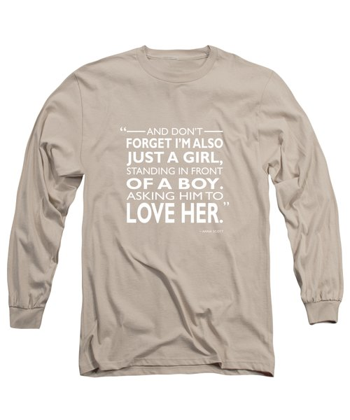 Standing In Front Of A Boy Long Sleeve T-Shirt