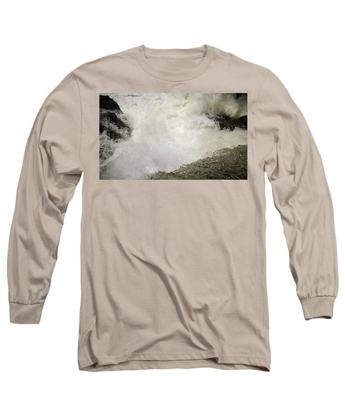 Standing On A Waterfall Long Sleeve T-Shirt