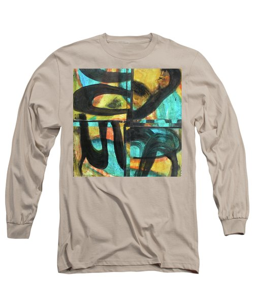Long Sleeve T-Shirt featuring the painting Honoring Standing Rock Water Protectors by Mary Sullivan