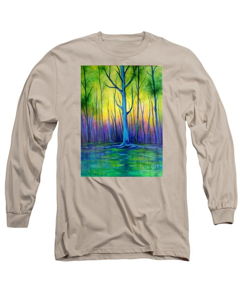Long Sleeve T-Shirt featuring the painting Standing Tall  by Alison Caltrider