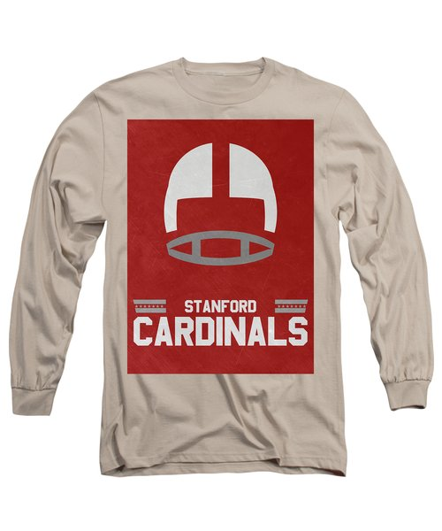 Stanford Cardinals Vintage Football Art Long Sleeve T-Shirt