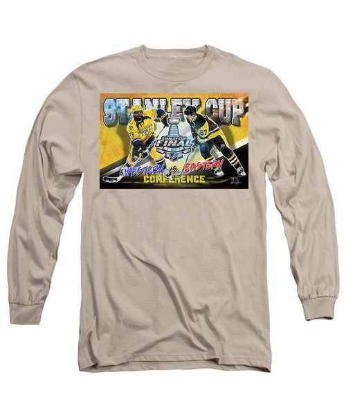 Stanley Cup 2017 Long Sleeve T-Shirt by Don Olea