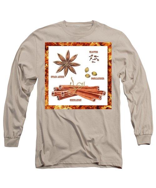 Star Anise Cloves Coriander Cinnamon Long Sleeve T-Shirt