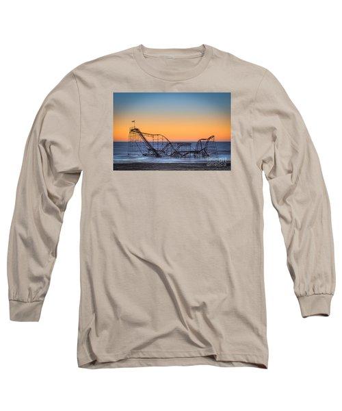 Star Jet Roller Coaster Ride  Long Sleeve T-Shirt by Michael Ver Sprill