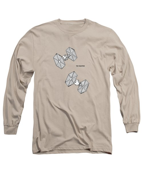 Star Wars - Tie Fighter Patent Long Sleeve T-Shirt by Mark Rogan