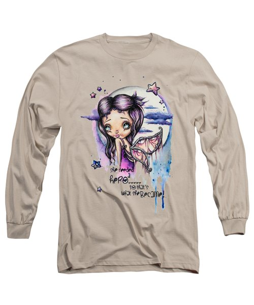 Long Sleeve T-Shirt featuring the painting Stardust by Lizzy Love