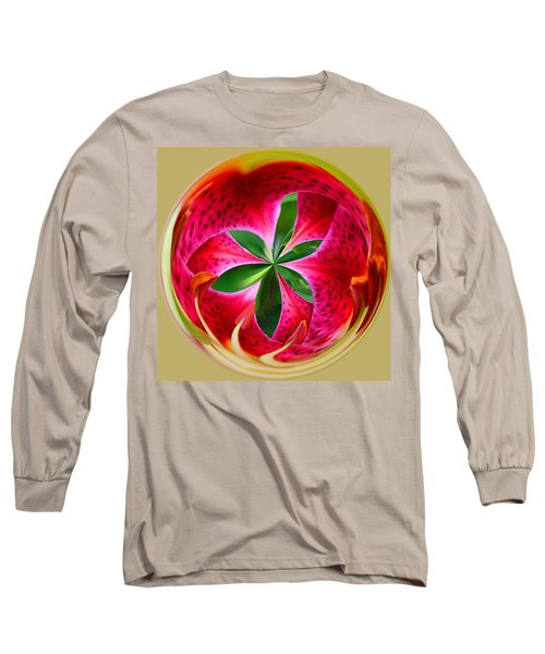 Stargazer Lily Orb Long Sleeve T-Shirt by Bill Barber
