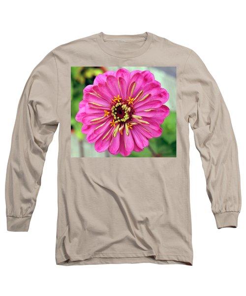 State Fair Zinnia Long Sleeve T-Shirt by Steve Archbold