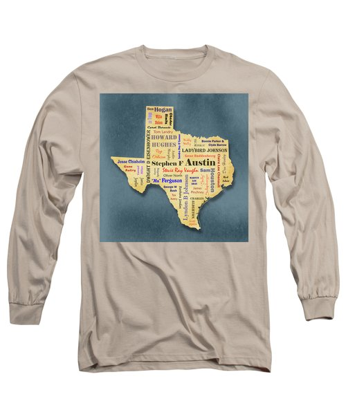 States - Famous Texas Long Sleeve T-Shirt by Ron Grafe