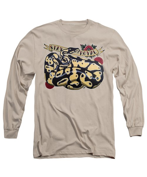 Stay Royal Ball Python Long Sleeve T-Shirt by Donovan Winterberg