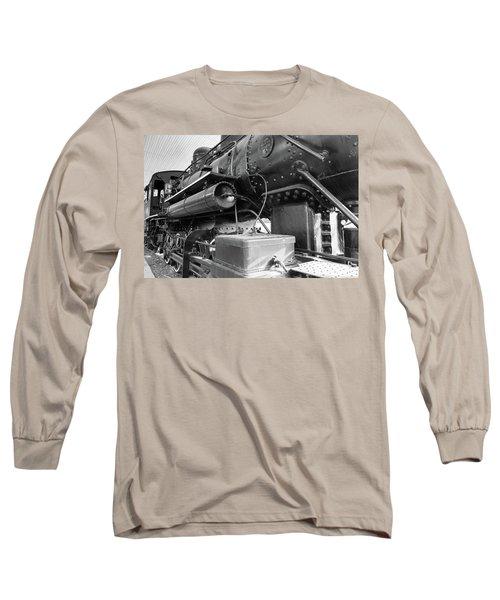 Steam Locomotive Side View Long Sleeve T-Shirt