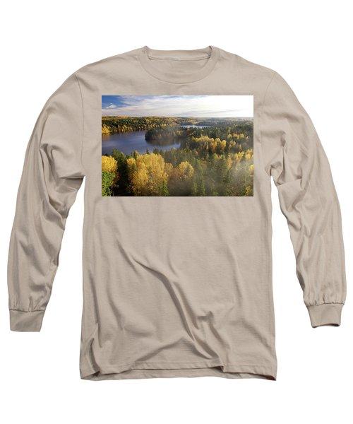 Steamy Forest Long Sleeve T-Shirt by Teemu Tretjakov
