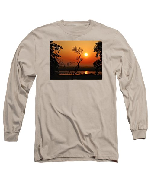 Long Sleeve T-Shirt featuring the photograph Steamy Summer Sunrise by Laura Ragland