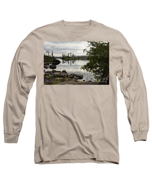 Long Sleeve T-Shirt featuring the photograph Steely Day by Larry Ricker