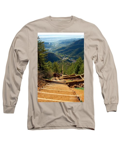 Steep Manitou Incline And Barr Trail Long Sleeve T-Shirt