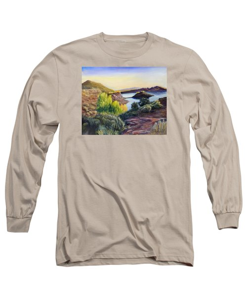 Long Sleeve T-Shirt featuring the painting Steinaker by Sherril Porter