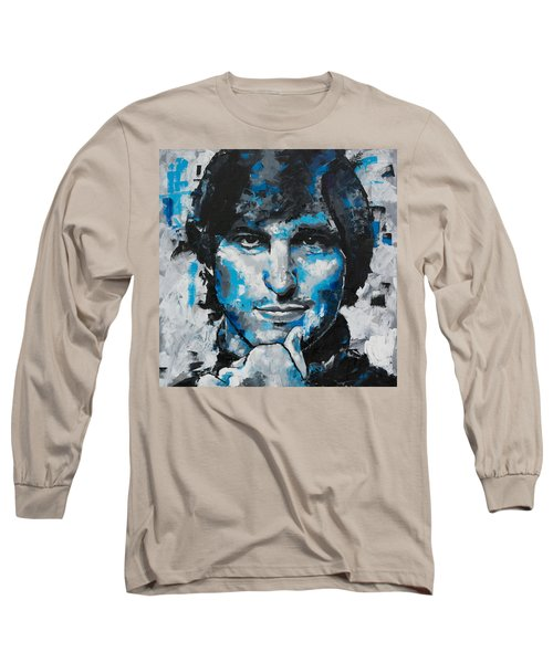 Long Sleeve T-Shirt featuring the painting Steve Jobs II by Richard Day