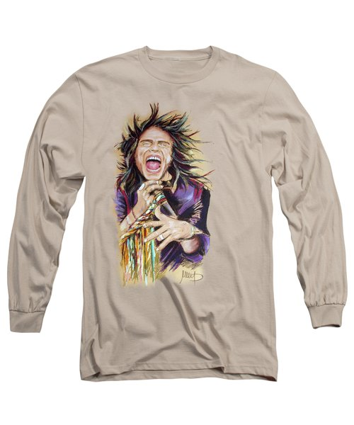 Steven Tyler Long Sleeve T-Shirt by Melanie D