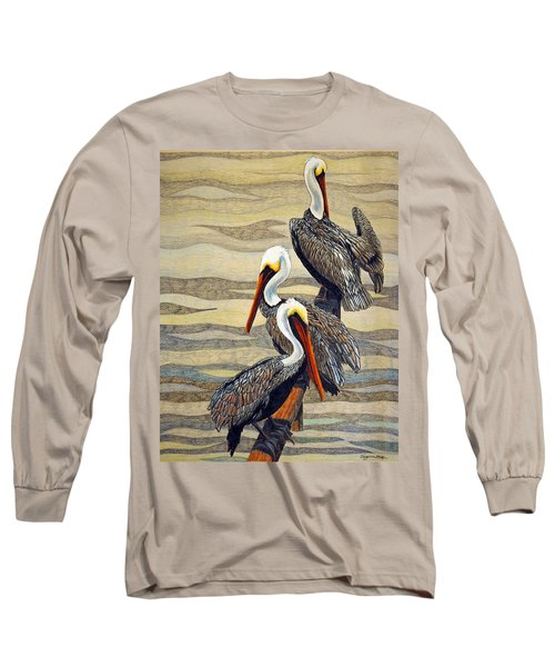 Steves Fishing Buddies Long Sleeve T-Shirt by Suzanne McKee