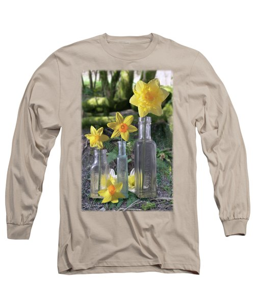 Still Life In The Woods Long Sleeve T-Shirt by Jon Delorme