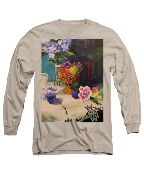 Still Life On Lace Long Sleeve T-Shirt