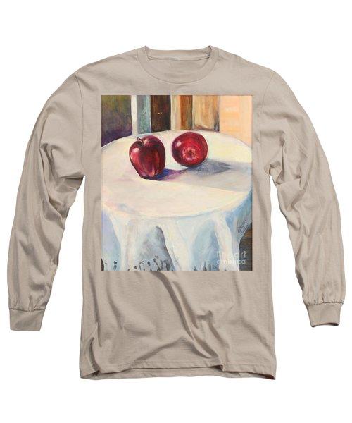 Still Life With Apples Long Sleeve T-Shirt by Daun Soden-Greene