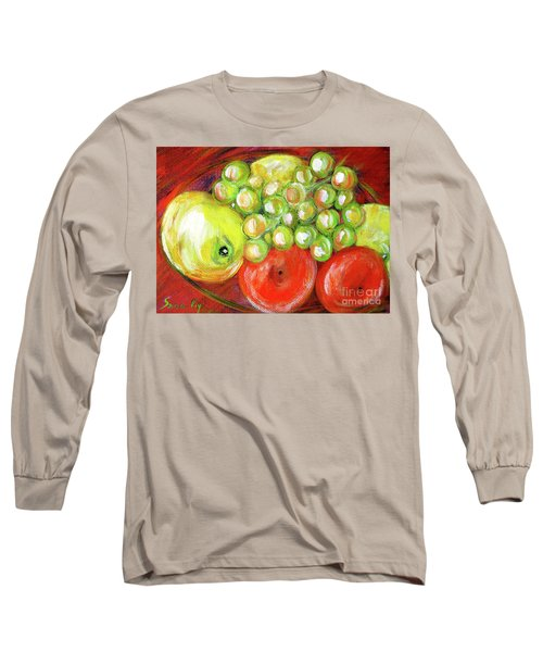 Still Life With Fruit. Painting Long Sleeve T-Shirt