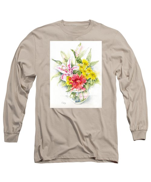 Still Life With Red Zinnia Long Sleeve T-Shirt