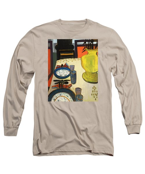 Still Life With Two Plates Long Sleeve T-Shirt