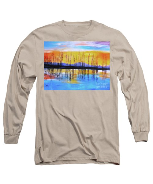 Still Waters From The Water Series  Long Sleeve T-Shirt by Donna Dixon