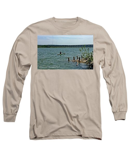Long Sleeve T-Shirt featuring the photograph Stillhouse Lake Canoe - No.2016 by Joe Finney
