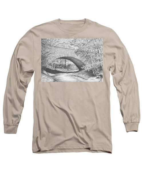 Stone Bridge Long Sleeve T-Shirt by Lawrence Tripoli
