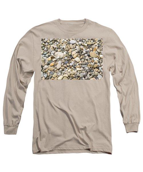 Stone Pebbles Patterns Long Sleeve T-Shirt by John Williams