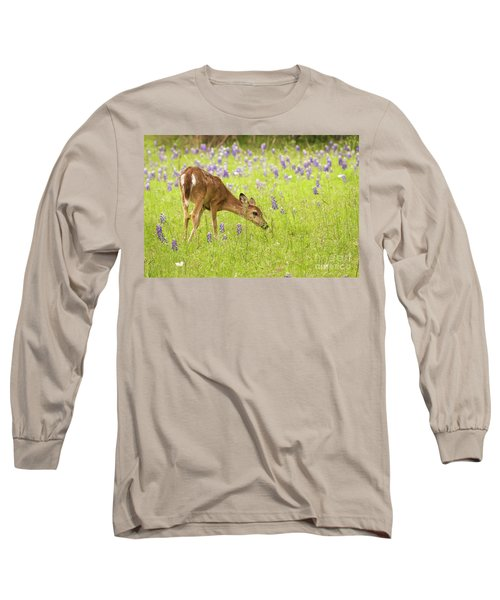 Stop And Smell The Bluebonnets. Long Sleeve T-Shirt