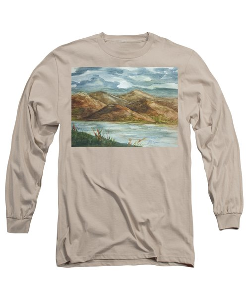 Long Sleeve T-Shirt featuring the painting Storm Clouds by Ellen Levinson