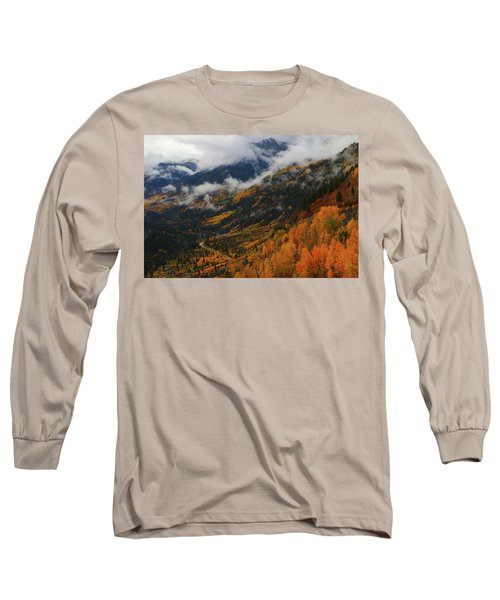 Storm Clouds Over Mcclure Pass During Autumn Long Sleeve T-Shirt by Jetson Nguyen