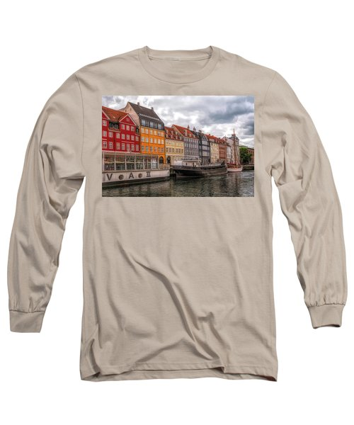 Storm Clouds Over Nyhavn Long Sleeve T-Shirt