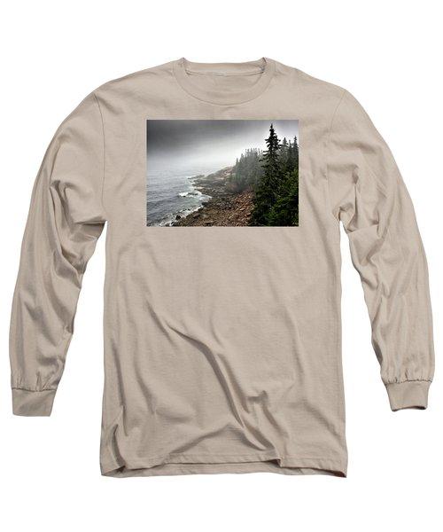 Stormy North Atlantic Coast - Acadia National Park - Maine Long Sleeve T-Shirt by Brendan Reals