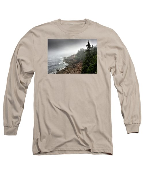 Stormy North Atlantic Coast - Acadia National Park - Maine Long Sleeve T-Shirt