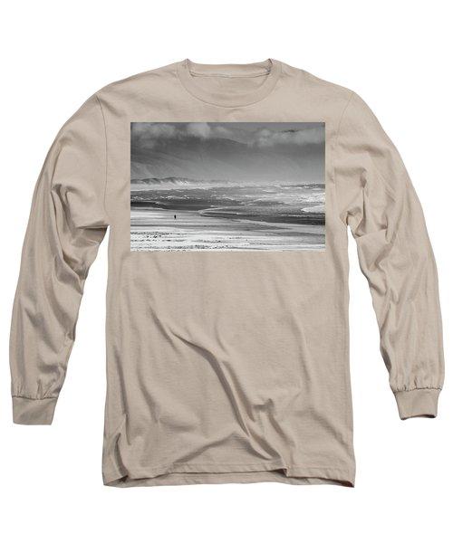 Stormy Oceanside Oregon Long Sleeve T-Shirt by Amyn Nasser